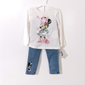 NWT Disney Minnie Holiday Outfit Size 3T